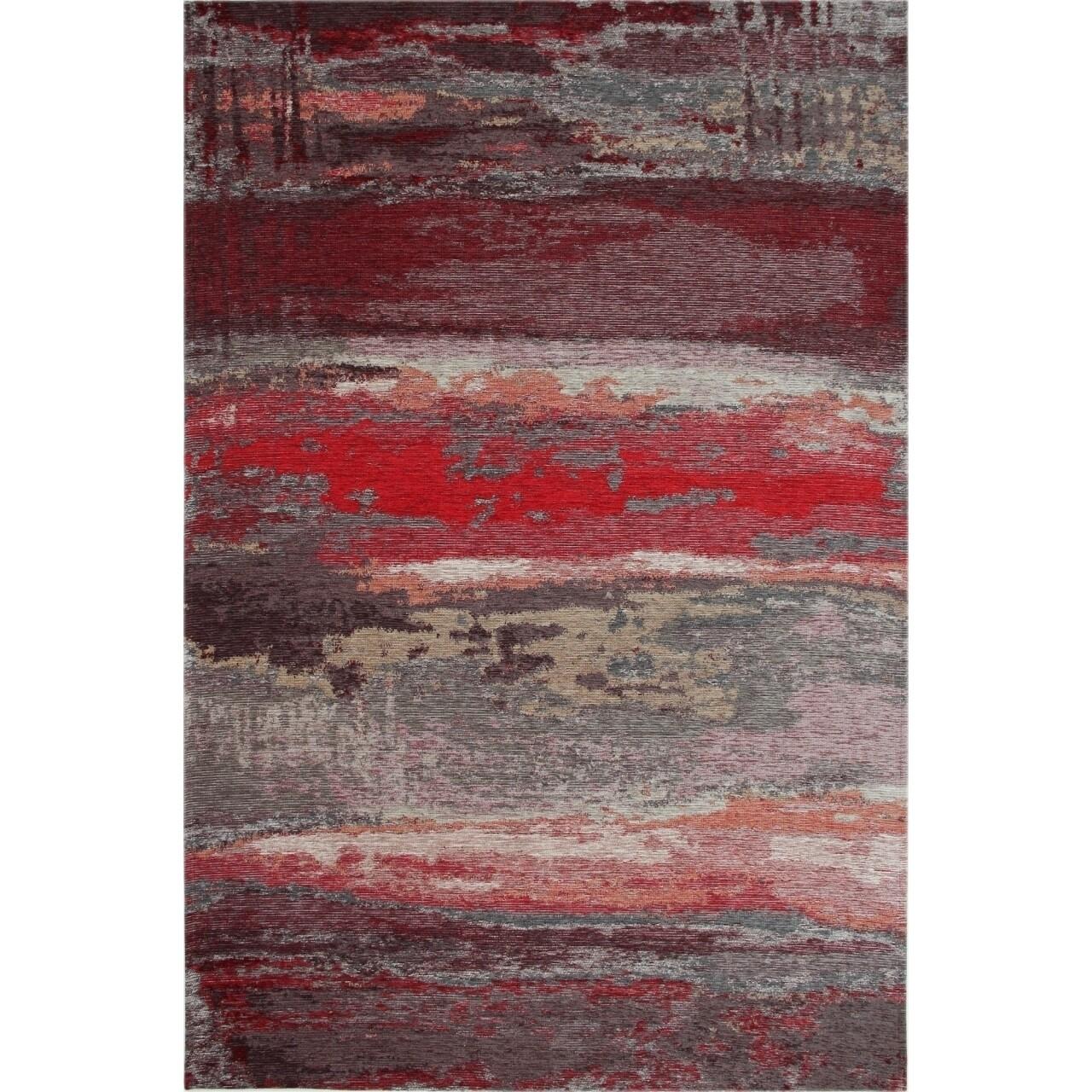 Covor rezistent Eko, SM 12 - Grey, Red XW, 100% acril,  80 x 300 cm