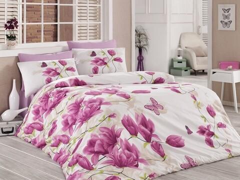 Lenjerie de pat pentru o persoana Alize v1, Majoli Home Collection, 3 piese, 160x240 cm, bumbac ranforce, multicolor