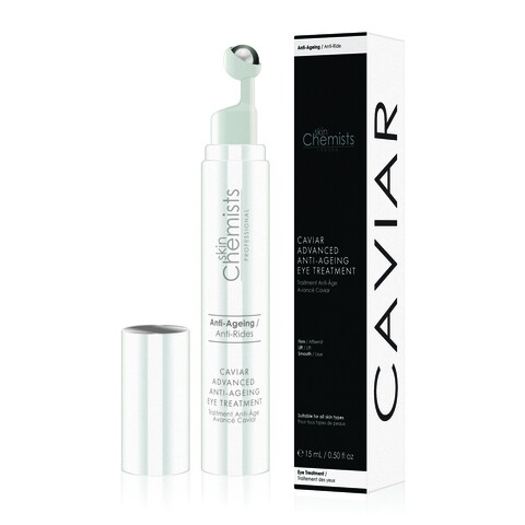 Tratament anti-imbatranire pentru zona ochilor, SkinChemists, Caviar Advanced Acid Anti-Ageing Eye, 15 ml