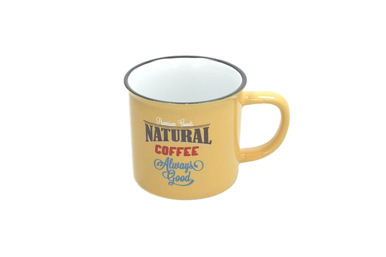 Cana pentru cafea, Tognana, 360 ml, ceramica, galben