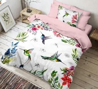 Lenjerie de pat pentru o persoana, 3 piese, The Club Cotton, Bella, bumbac ranforce, 145 TC, multicolor
