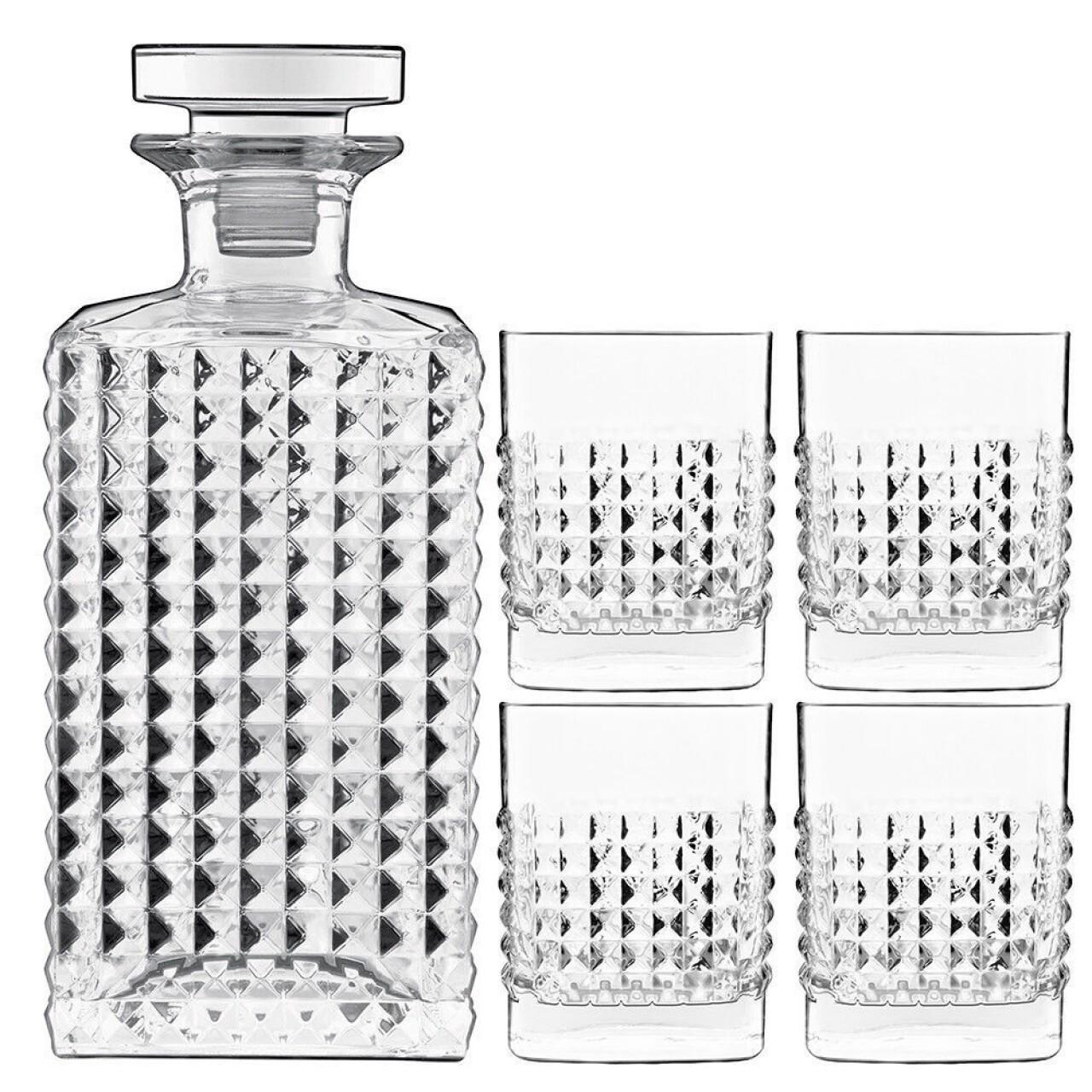 Set whisky 5 piese, Elixir, Luigi Bormioli
