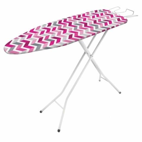 Masa de calcat Vega Pink, Metaltex, 33 x 109 cm, metal/bumbac/burete, multicolor