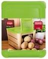 Cutie depozitare cartofi si legume, Snips, 25.5x20x17.5 cm, polipropilena, maro/verde