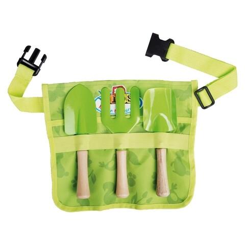 Set centura cu accesorii gradinarit pentru copii, Esschert, panza/plastic/poliester, verde