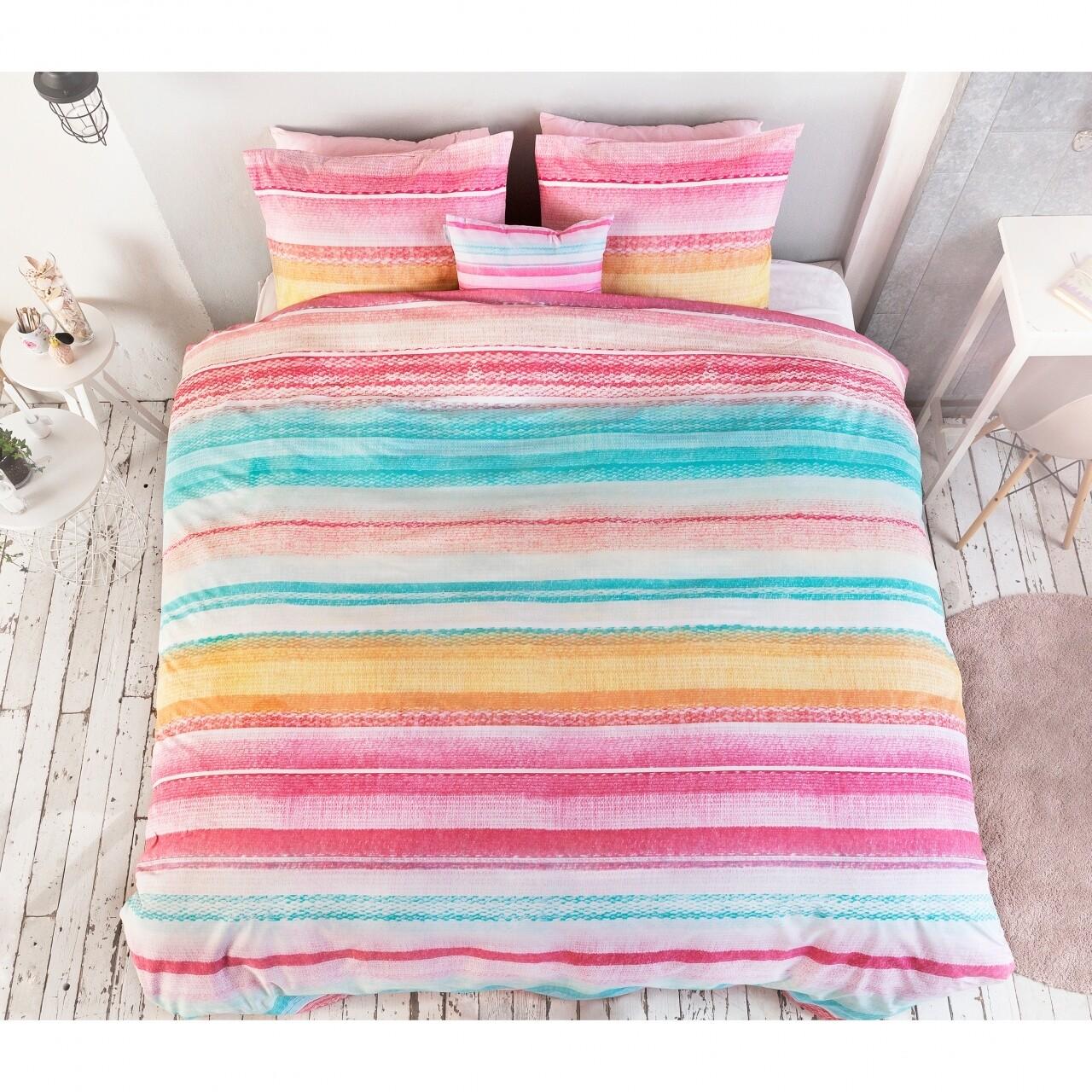 Lenjerie de pat pentru doua persoane Kimli Multi, Royal Textile, 100% bumbac