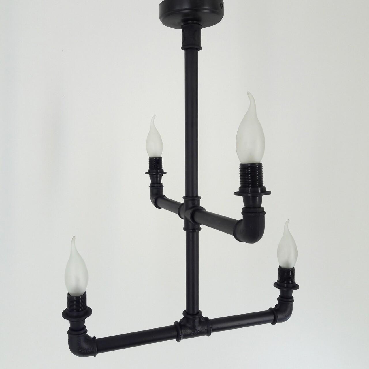 Candelabru All Design, metal, 55x40x40 cm, Black