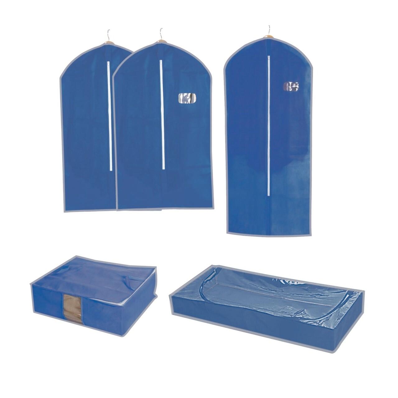 Set 5 accesorii pentru depozitare Blue, Jocca, polipropilena, albastru