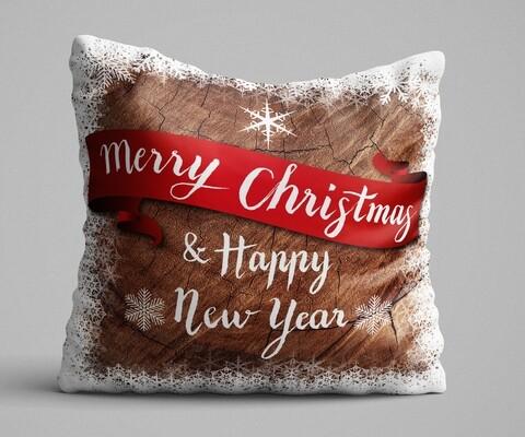 Perna decorativa, Christmas Decoration KRLNTXMAS-1, 43x43 cm, policoton, multicolor