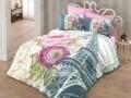 Lenjerie de pat dubla Eiffel, Cotton Box, 4 piese, 240 x 260 cm, 100% bumbac ranforce, multicolora