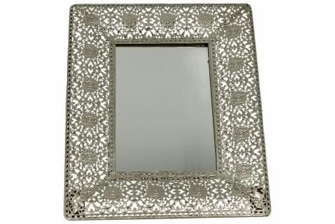 Oglinda Azur, Duo, 17.5 x 23 cm, sticla/metal, aramiu