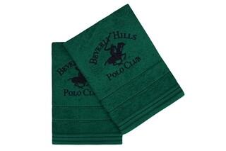 Set 2 prosoape de maini, Beverly Hills Polo Club, 403, 50x90 cm, 100% bumbac, verde