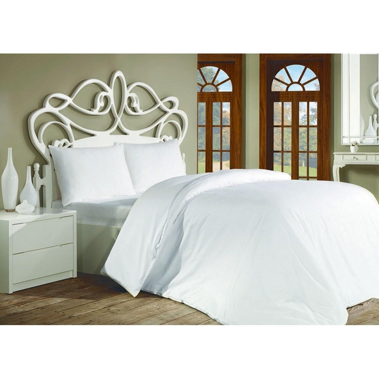 Lenjerie de pat double Plain White