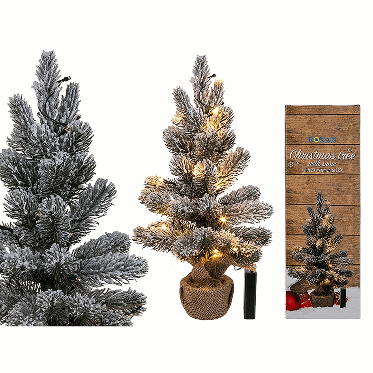 Pom artificial Chrismas, 20 de LED-uri