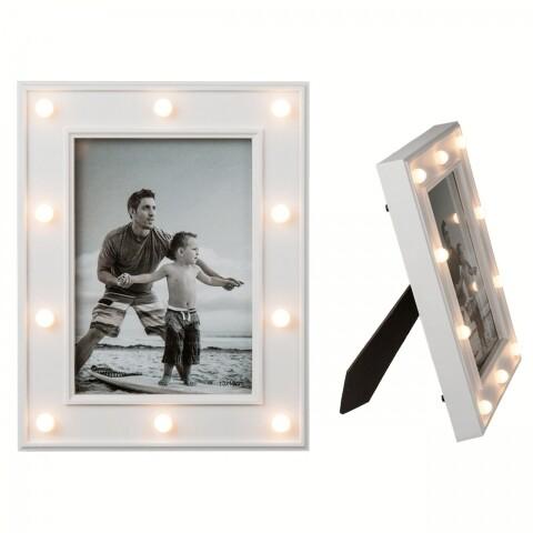 Rama foto Iluminated, Out of the Blue, 13 x 18 cm, plastic, alb