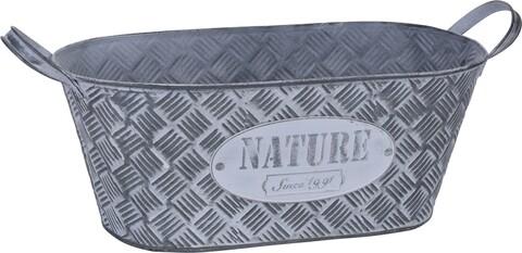 Ghiveci Nature, 33x17.3x13 cm, zinc, gri