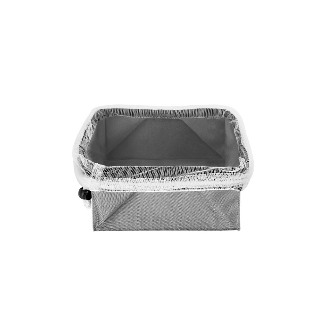 Cutie pliabila pentru depozitare Metaltex, 18 x 18 cm, poliester/poliamida, gri