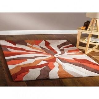 Covor Infinite Splinter Orange, Flair Rugs, 160 x 220 cm, 100% poliester, portocaliu/bej