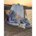 Lenjerie de pat dubla Heron, Aglika, 3 piese, 200 x 220 cm, 100% bumbac, multicolora