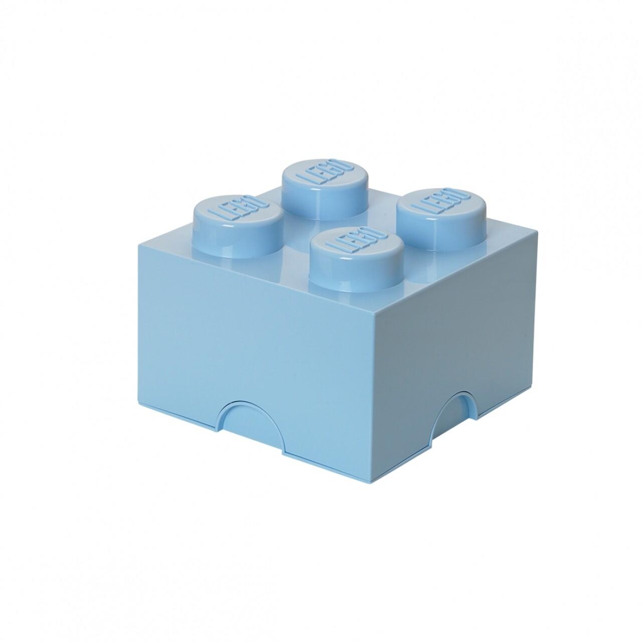 Cutie de depozitare LEGO, 5700 ml, polipropilena, albastru deschis