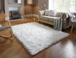 Covor din blana artificiala Sheepskin Ivory 160x230 cm, crem