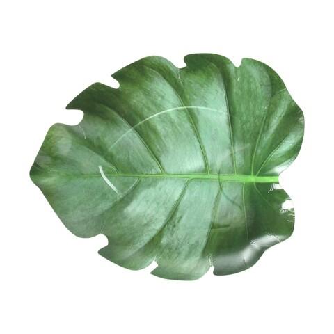 Set 10 suporturi pentru farfurie, Esschert, Leaf, 22.5 x 27.5 x 2.7 cm, hartie, verde