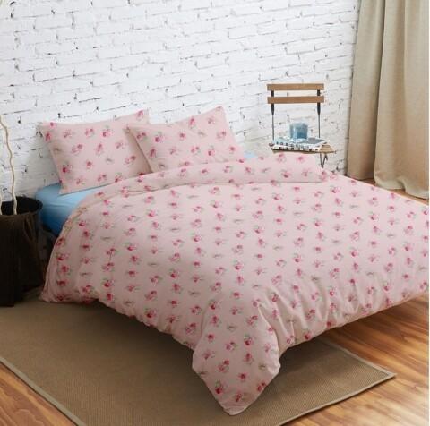 Lenjerie de pat dubla J'adore, Heinner, 4 piese, 220 x 240 cm, 100% microfibra, roz