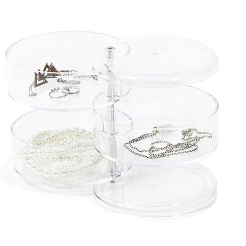 Organizator pentru bijuterii Swivel, Compactor, polistiren , transparent