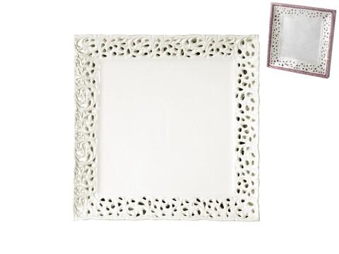 Farfurie Lace, H&H, 20 x 20 cm, ceramica, alb