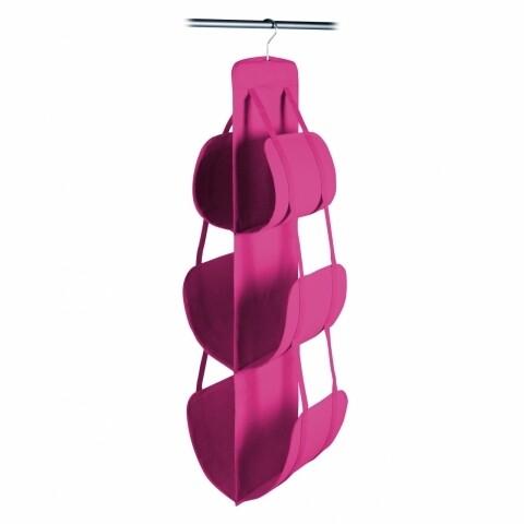 Organizator genti Jocca, 30x30x105 cm, PEVA, roz
