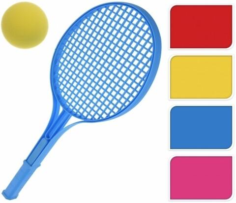 Set 2 rachete de tenis si minge, 54 cm, Heinner, Multicolor