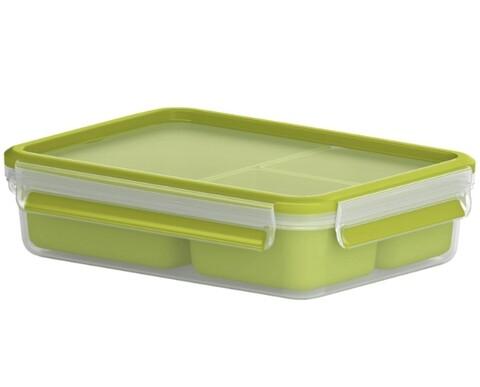 Caserola compartimentata, Tefal, Clip&Go Snack, 1.2 L, plastic, verde