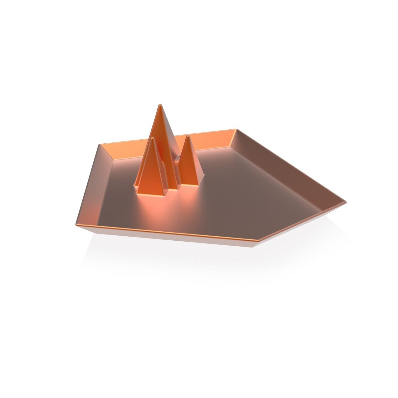 Tava decor We live like this, NPW, 6 x 15.5 x 16.5 cm, ceramica, auriu