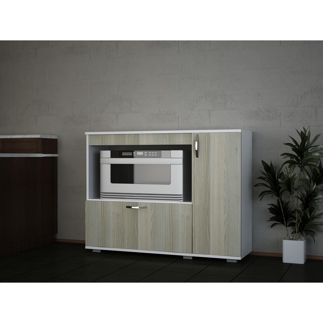 Dulap pentru bucatarie, Wooden Art, Charlotta White Cordoba, 118.2x90x35 cm