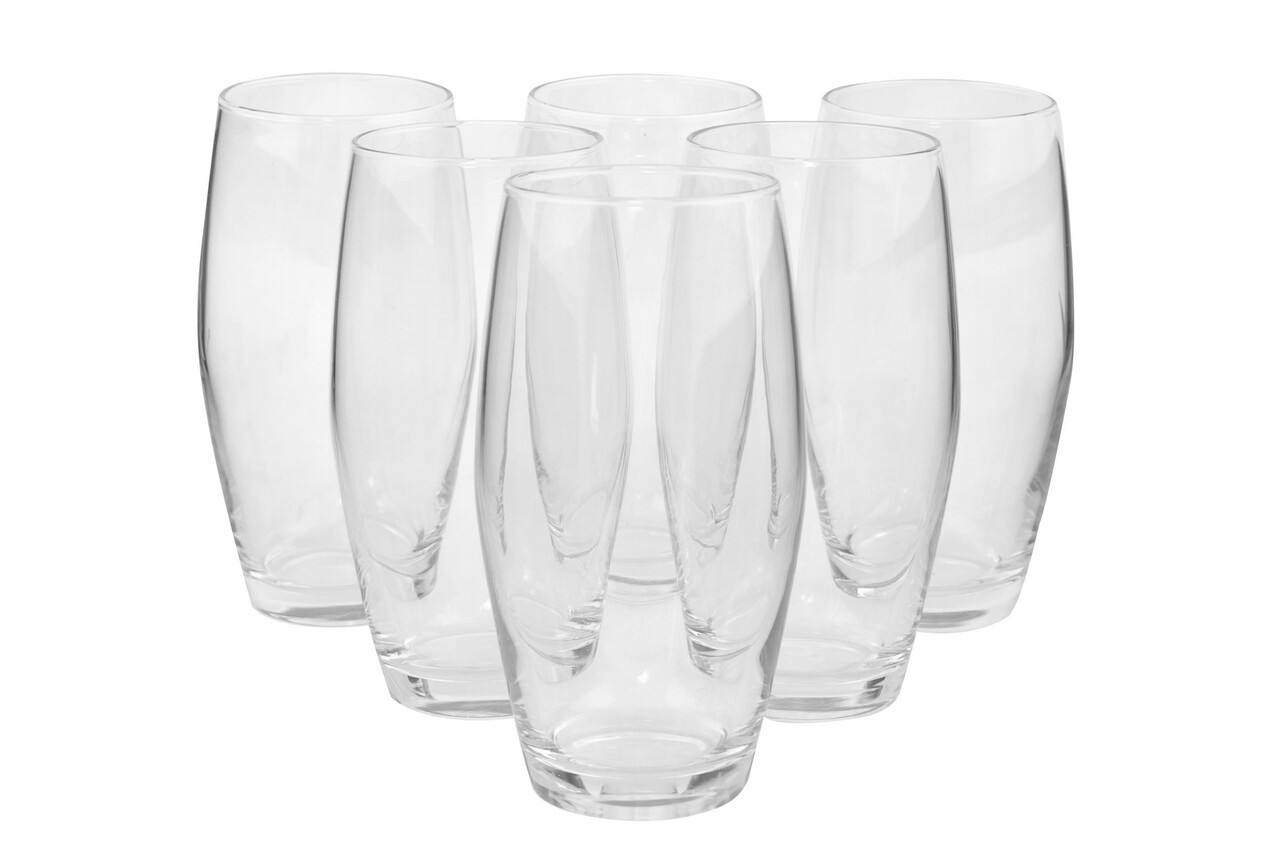 Set 6 pahare Pasabahce, 7.85 x 14.8 cm, sticla, transparent