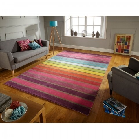 Covor Ilusion Candy Multi Color, Flair Rugs, 80 x 150 cm, 100% lana, multicolor