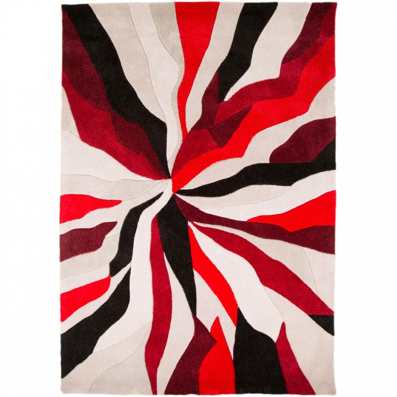 Covor Infinite Splinter Red 80X150