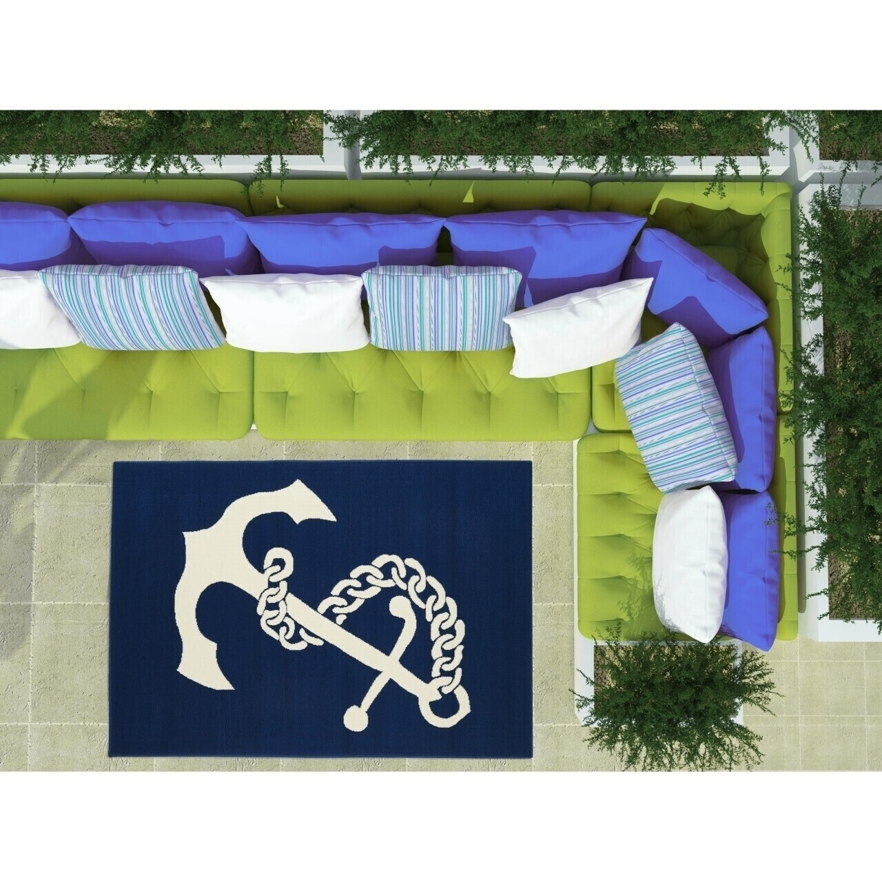 Covor indoor outdoor Floorita ANCHOR NAVY 160X230
