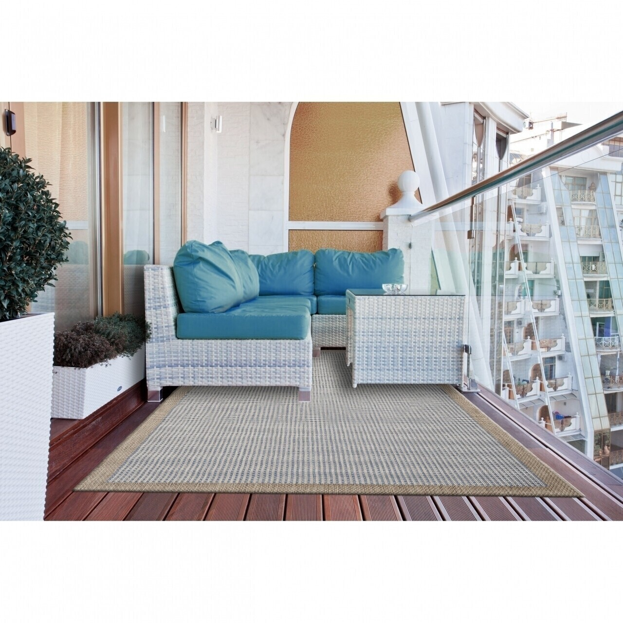 Covor indoor outdoor Floorita CHROME BLUE 135X190