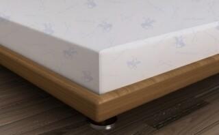 Cearceaf de pat pentru o persoana, 180x240 cm, 100% bumbac ranforce, Beverly Hills Polo Club, alb/bleu
