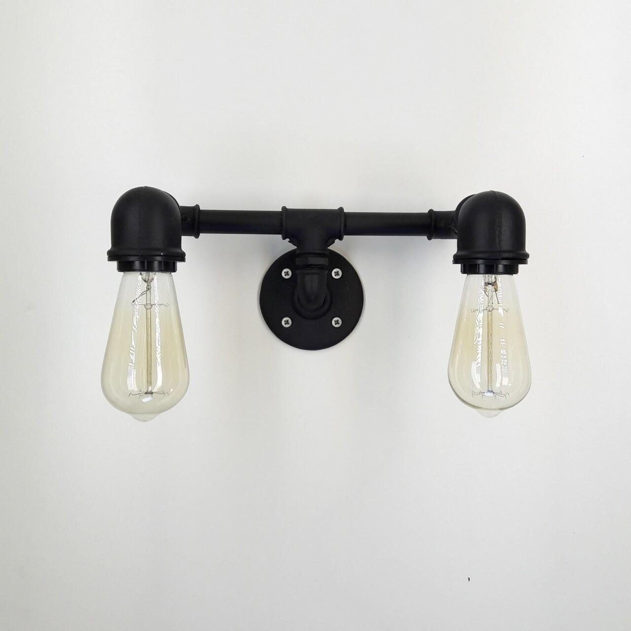 Aplica de perete All Design, metal, 32x14x17 cm,  Downward Black