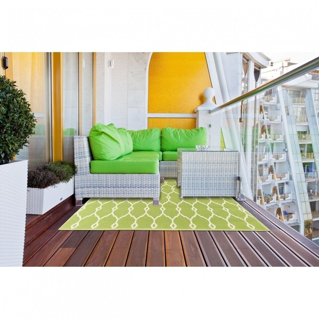 Covor indoor outdoor Floorita TRELLIS GREEN 160X230