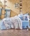 Lenjerie de pat pentru o persoana, 3 piese, 100% bumbac ranforce, Cotton Box, Seaport