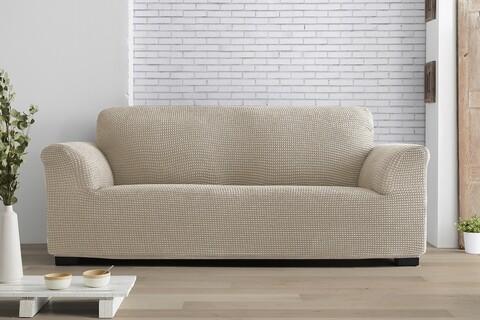 Husa elastica canapea, Belmarti, Milos, 3 locuri, fildes