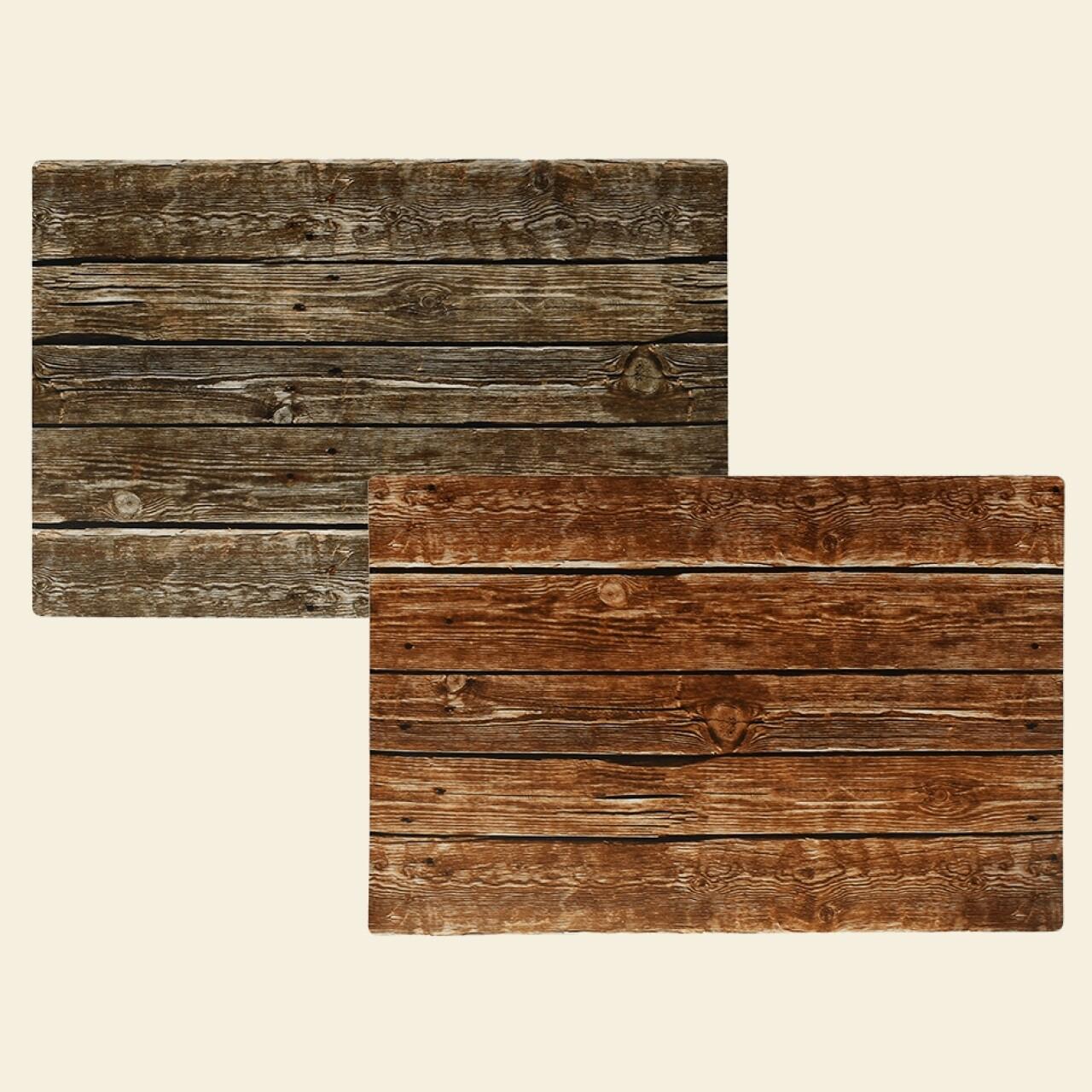 Set 2 suporturi pentru farfurie Wood