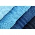 Set 4 prosoape de maini, Hobby, 70x140 cm, 100% bumbac, albastru