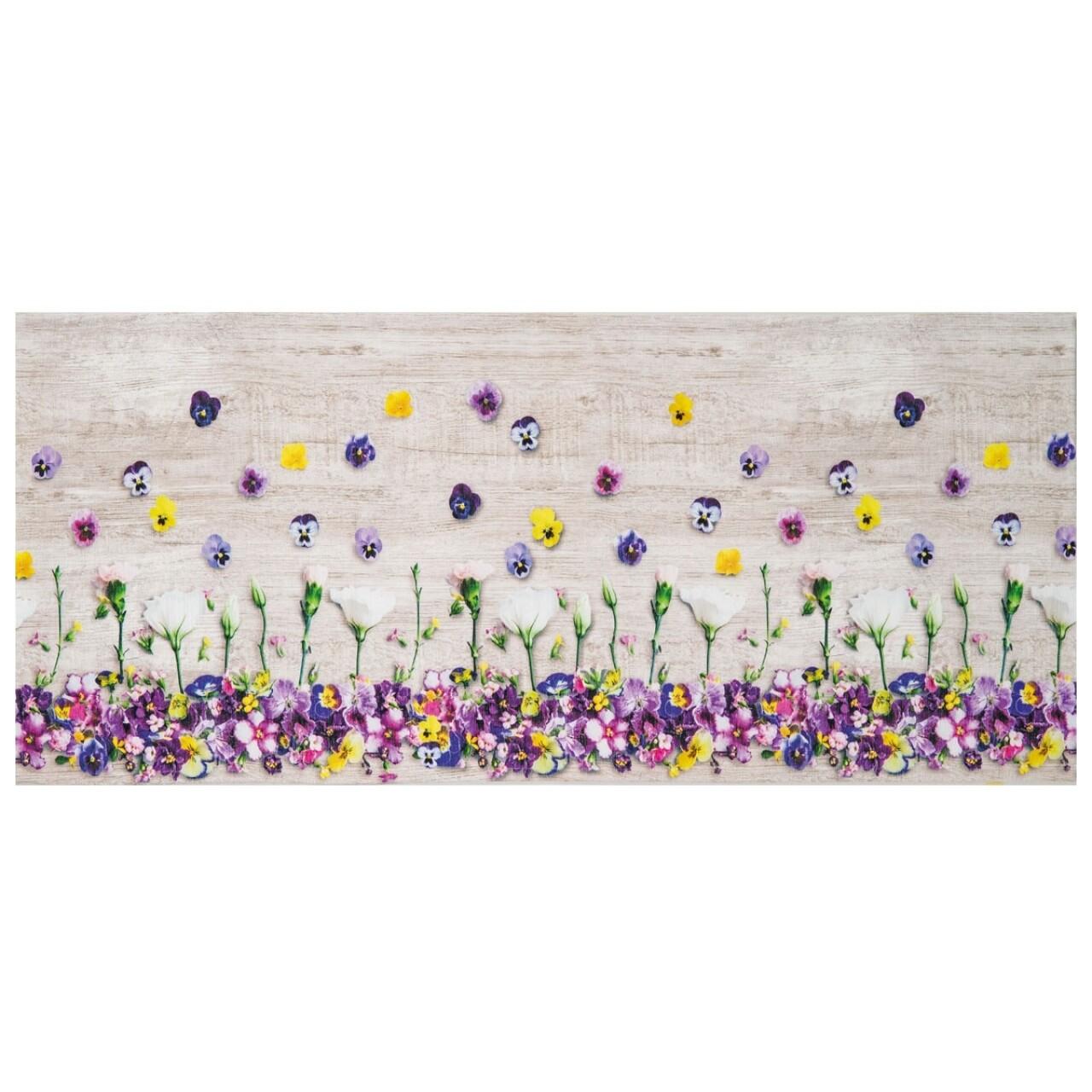 Covor rezistent Webtappeti Viole del Pensiero 58 x 140 cm, multicolor
