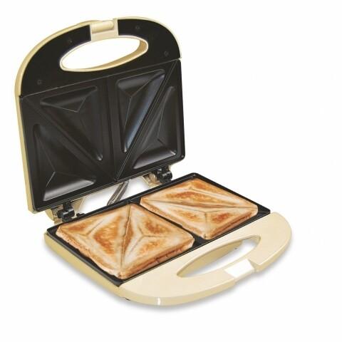 Sandwich maker Cream Jocca, 10 x 22 x 23 cm,  aluminiu/bachelita/invelis non-stick, crem