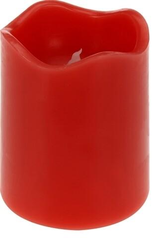 Lumanare cu LED, 7x9 cm, parafina, rosu
