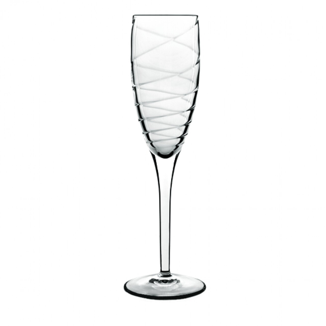 Set 4 pahare sampanie Romantica Flute, Luigi Bormioli, 177 ml, cristalit, transparent